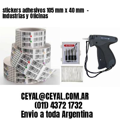 stickers adhesivos 105 mm x 40 mm  - Industrias y Oficinas