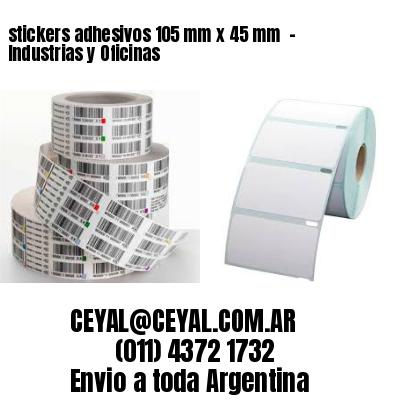 stickers adhesivos 105 mm x 45 mm  - Industrias y Oficinas