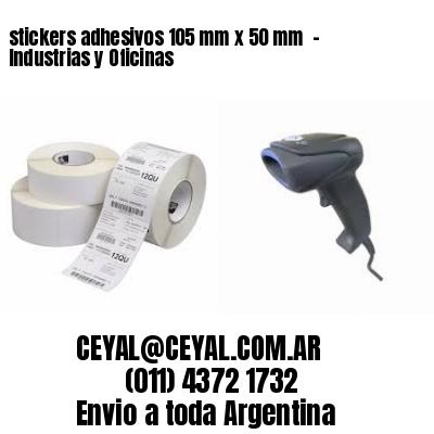 stickers adhesivos 105 mm x 50 mm  - Industrias y Oficinas