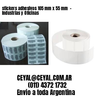 stickers adhesivos 105 mm x 55 mm  - Industrias y Oficinas
