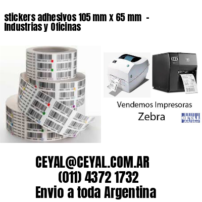 stickers adhesivos 105 mm x 65 mm  - Industrias y Oficinas