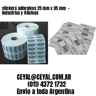 stickers adhesivos 25 mm x 95 mm  - Industrias y Oficinas