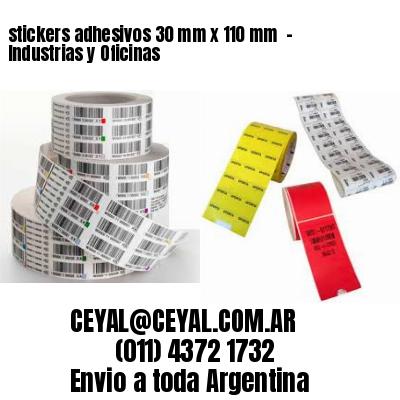 stickers adhesivos 30 mm x 110 mm  - Industrias y Oficinas