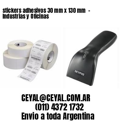 stickers adhesivos 30 mm x 130 mm  - Industrias y Oficinas
