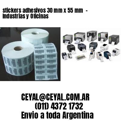 stickers adhesivos 30 mm x 55 mm  - Industrias y Oficinas
