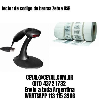 lector de codigo de barras Zebra USB