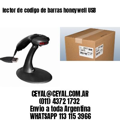 lector de codigo de barras honeywell USB