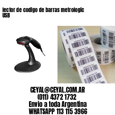 lector de codigo de barras metrologic USB