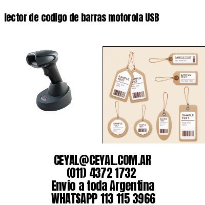lector de codigo de barras motorola USB