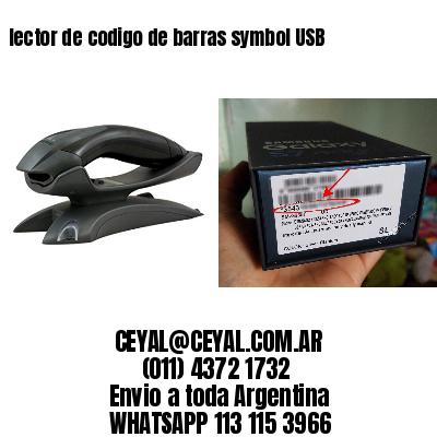 lector de codigo de barras symbol USB