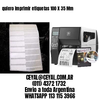 quiero imprimir etiquetas 100 X 35 Mm