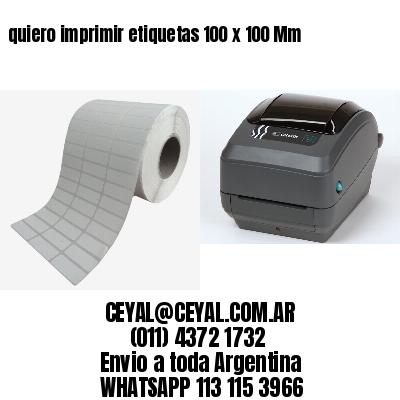 quiero imprimir etiquetas 100 x 100 Mm