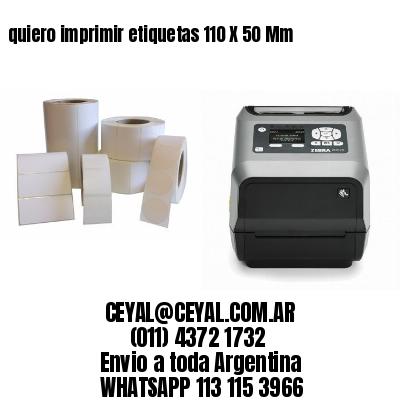 quiero imprimir etiquetas 110 X 50 Mm
