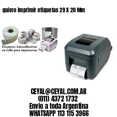 quiero imprimir etiquetas 29 X 20 Mm