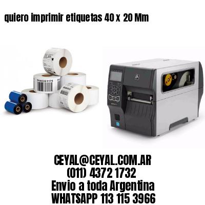 quiero imprimir etiquetas 40 x 20 Mm