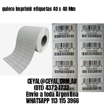 quiero imprimir etiquetas 40 x 40 Mm