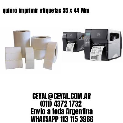 quiero imprimir etiquetas 55 x 44 Mm