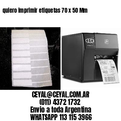 quiero imprimir etiquetas 70 x 50 Mm