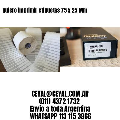 quiero imprimir etiquetas 75 x 25 Mm