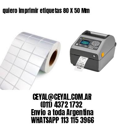 quiero imprimir etiquetas 80 X 50 Mm