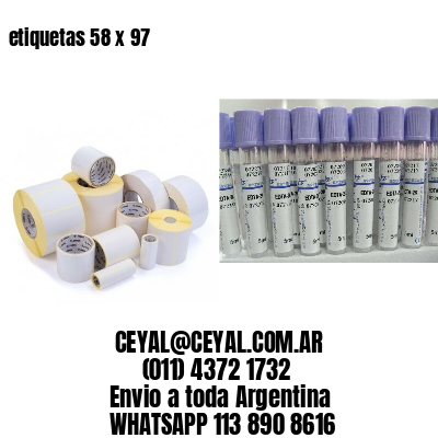 etiquetas 58 x 97