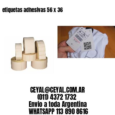 etiquetas adhesivas 56 x 36