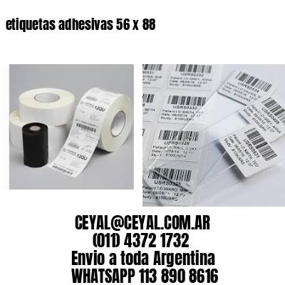 etiquetas adhesivas 56 x 88