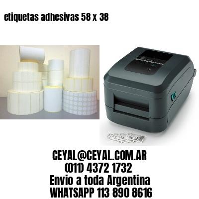 etiquetas adhesivas 58 x 38
