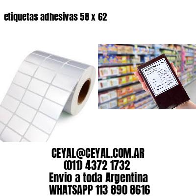 etiquetas adhesivas 58 x 62
