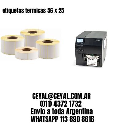 etiquetas termicas 56 x 25