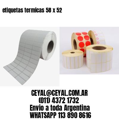 etiquetas termicas 58 x 52