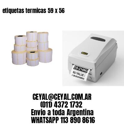 etiquetas termicas 59 x 56
