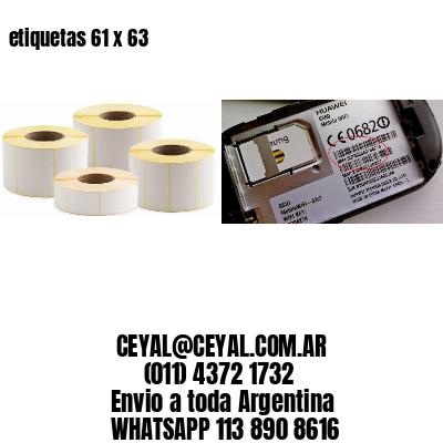 etiquetas 61 x 63