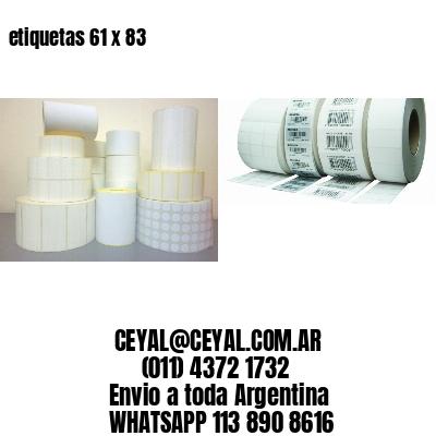 etiquetas 61 x 83