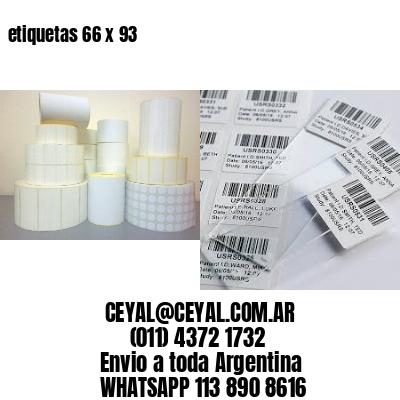 etiquetas 66 x 93