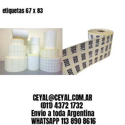 etiquetas 67 x 83
