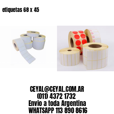 etiquetas 68 x 45