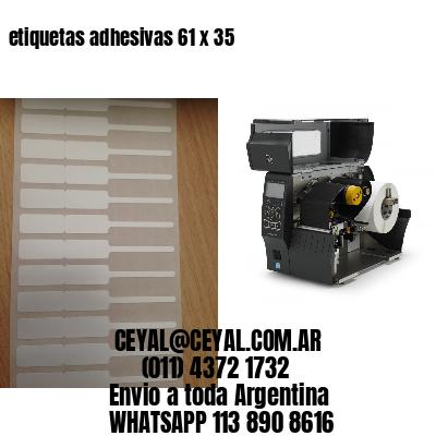 etiquetas adhesivas 61 x 35