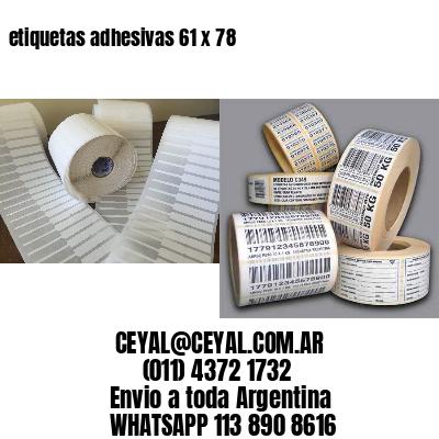 etiquetas adhesivas 61 x 78