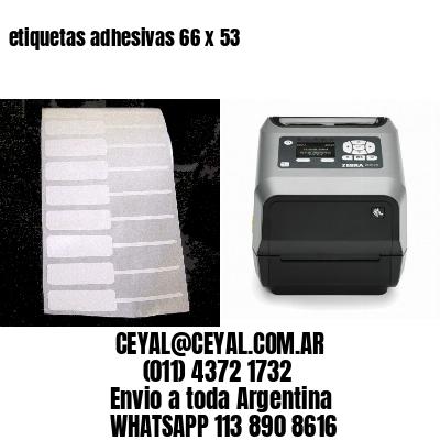 etiquetas adhesivas 66 x 53