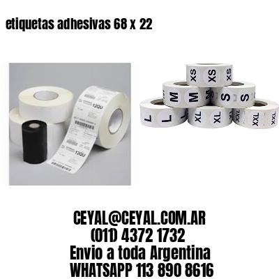 etiquetas adhesivas 68 x 22