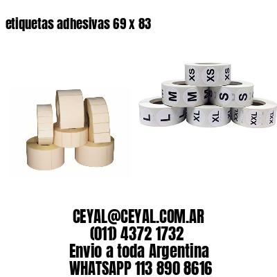 etiquetas adhesivas 69 x 83