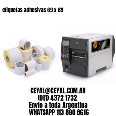 etiquetas adhesivas 69 x 89