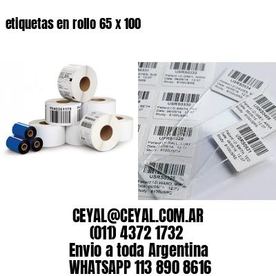 etiquetas en rollo 65 x 100