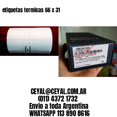etiquetas termicas 66 x 31
