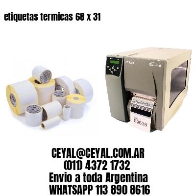etiquetas termicas 68 x 31