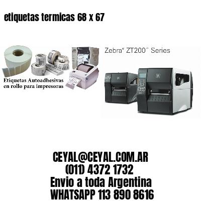 etiquetas termicas 68 x 67