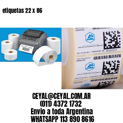 etiquetas 22 x 86