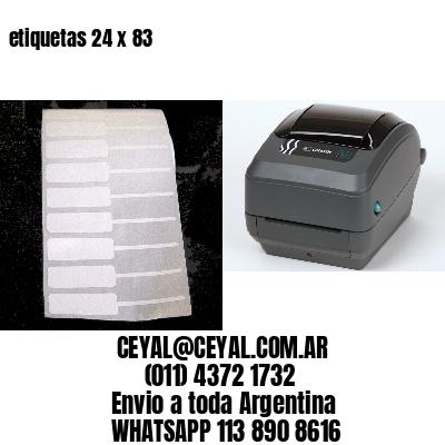 etiquetas 24 x 83