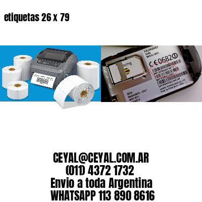 etiquetas 26 x 79